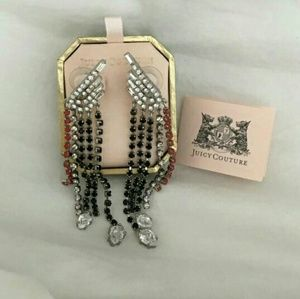 NWT juicy rhinestone dangling posts